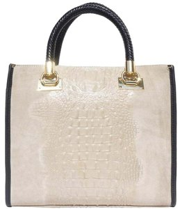 Zuza leather Tote in Light Taupe