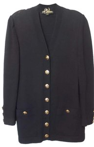 St. John Santana Long Jacket Black Blazer