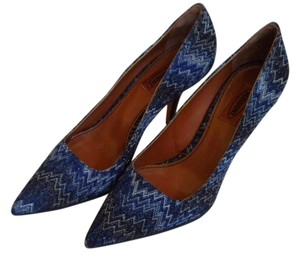 Missoni New Stilletto 9/39 Blue with flame design Pumps