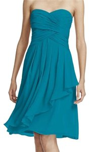 David's Bridal Chiffon Strapless Dress