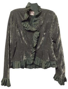 Holly in Hanoi Silk Handmade Couture Velvet Medium sage green Jacket