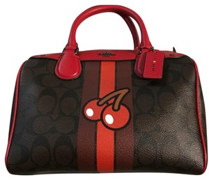 Coach Satchel in Monogram and Red