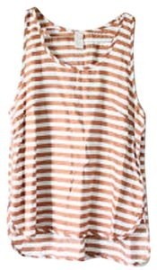 H&M Top Gold and White Striped