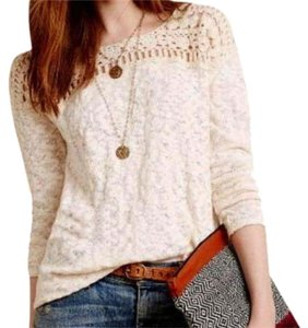 Anthropologie Slubby Cotton Knit Sweater