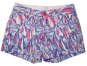 Lilly Pulitzer Red Right Return Mini/Short Shorts Multi