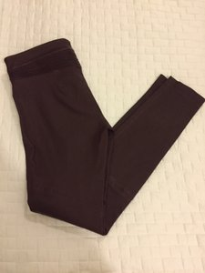 Yigal Azrouël Leather Moto Nwot Burgundy Leggings