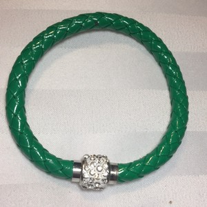 Other New Emerald Green Bangle Leather Bracelet