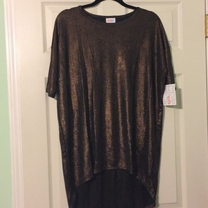 LuLaRoe T Shirt Black with bronze glitter