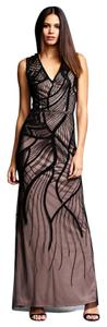 Aidan Mattox Gown Mesh Embroidered Dress