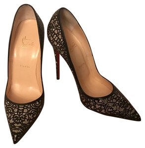 Christian Louboutin Black, Glitter Pumps