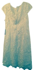 Adrianna Papell Lace Cap Sleeve Tags On Prom Dress