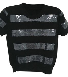 Marc Jacobs Knit Short-sleeve Sequined Sweater