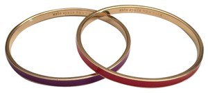 Kate Spade Kate Spade Idiom Bangles. Set Of 2. Lay In Lavender And Take Heart
