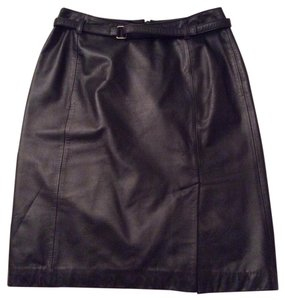 Ann Taylor LOFT Skirt Black 100% leather