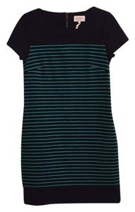 Laundry by Shelli Segal short dress Navy & green on Tradesy