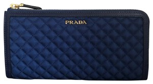 Prada Quilted Zip Around Continental Wallet