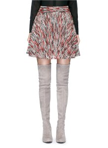 Alice + Olivia Mini Skirt Blue, Red and White