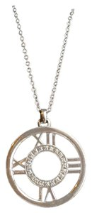 Tiffany & Co. Tiffany & Co. 18K White Gold Diamond ATLAS Numerical Pendant Necklace