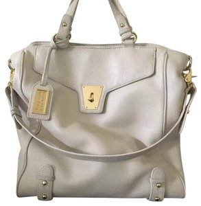 Badgley Mischka Satchel in Cream