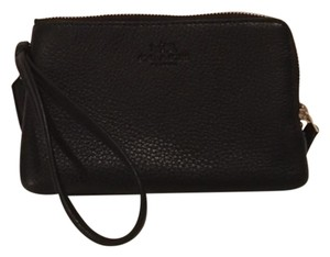 Coach Nwt Leather Wristlet in Black