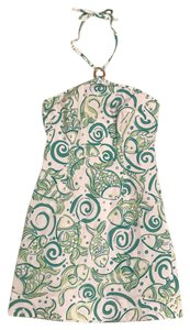 Lilly Pulitzer short dress White, green on Tradesy