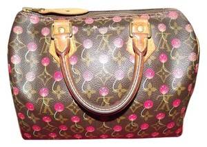 Louis Vuitton Speedy Cerises Satchel in Brown