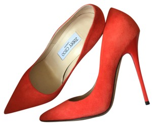 Jimmy Choo Tangerine/Red Pumps