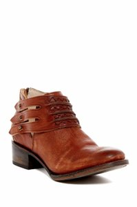 FreeBird Slay Strappy Ankle Cognac Brown Boots