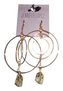 Jennifer Lopez JENNIFER LOPEZ GOLD TONE EARRINGS NEW