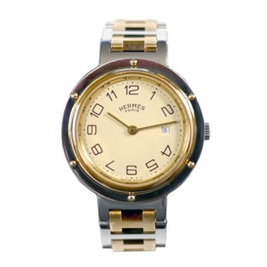 Hermès Hermes Silver & Gold Clipper Quartz Watch
