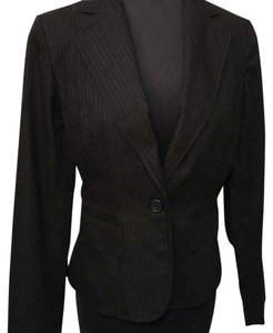 Ann Taylor LOFT Black/grey pin strip Blazer
