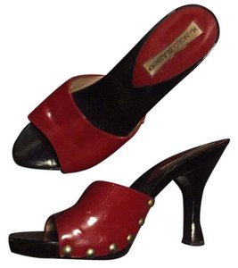 Manolo Blahnik Black and red Sandals