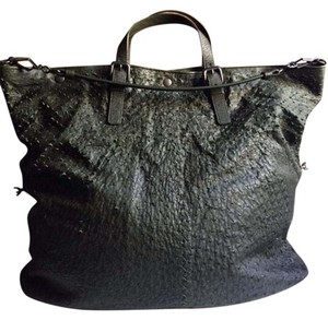 Bottega Veneta Largetote Ostrich Tote in GREEN