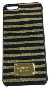 Michael Kors Striped Iphone 6 Plus Case Cover Glitter Gold