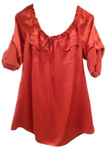 Moda International Top Coral