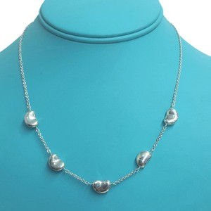 Tiffany & Co. Elsa Perretti Five Bean Necklace By Tiffany And Company! Designed In Sterling Silver.