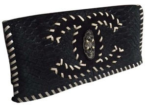 Chanel Python Rare black Clutch