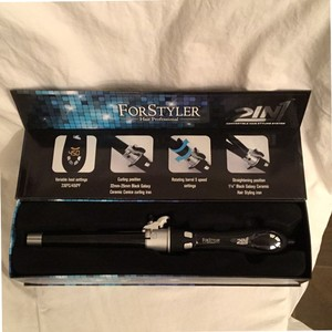 For Styler NEW! $350 Professional Ceramic 2 IN 1 Rotating Curler & Flat Iron