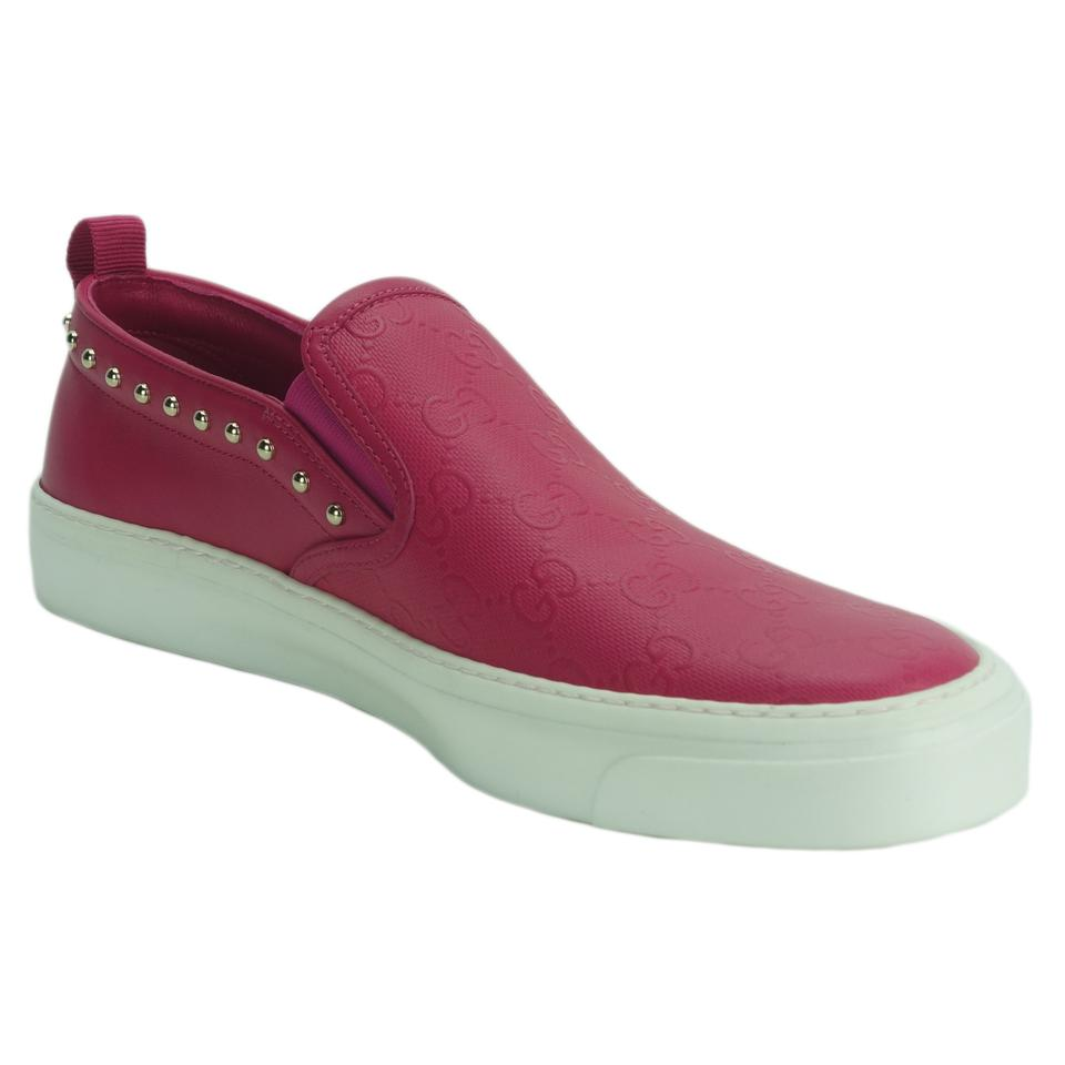890ee396537 Gucci Pink 385758 Women s Guccissima Slip-on G37.5 Flats Size US 7.5 ...