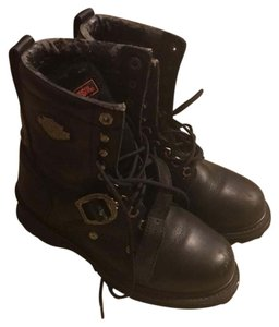 Harley Davidson Black leather Boots