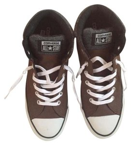 Converse Leather Chocolate Brown and Grey Athletic