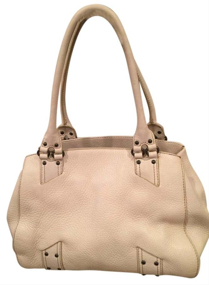 a5ace9ccfb Cole Haan Off White Pebbled Leather Satchel - Tradesy