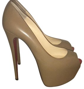 Christian Louboutin Pumps Highness 160mm Dark Nude Platforms