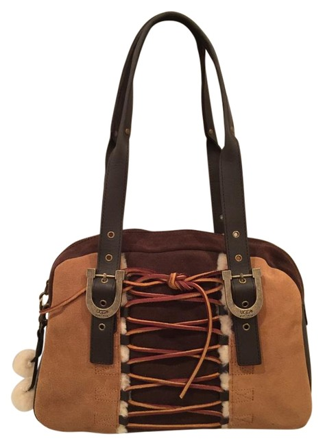 UGG Australia Lacing Bowler Chestnut Suede Leather Satchel UGG Australia Lacing Bowler Chestnut Suede Leather Satchel Image 1
