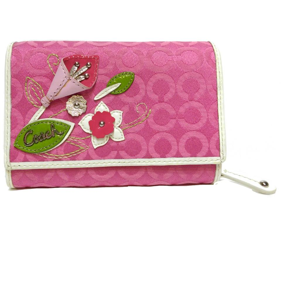 Coach Pink Lily Lily Rare Flower Optic C Japan Sold Only Wallet