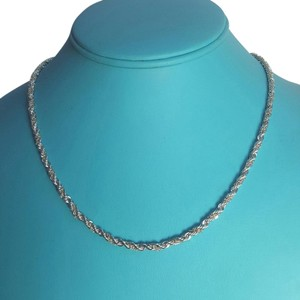 Tiffany & Co. Tiffany And Company 18 Karat Yellow Gold And Sterling Silver Rope Chain In 18 Inches!