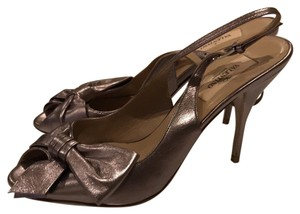 Valentino Metallic Gold Pumps