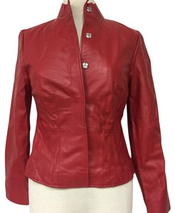 i.e. Petites Red Leather Jacket
