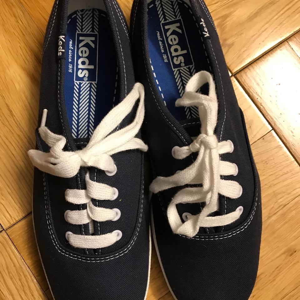 10f2377a545 Keds Navy Canvas Champion Sneakers Size US 8 Regular (M