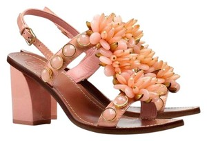 Tory Burch Tallulahsandal Pink Leather Blockheel Tallulah Pink Sandals